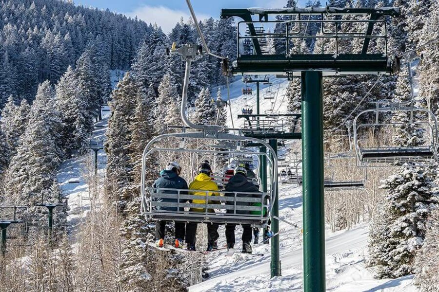 Chairlift riders