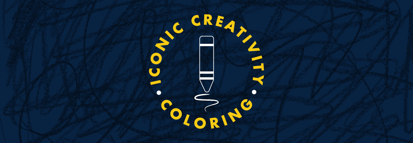 Iconic Creativity Coloring Banner