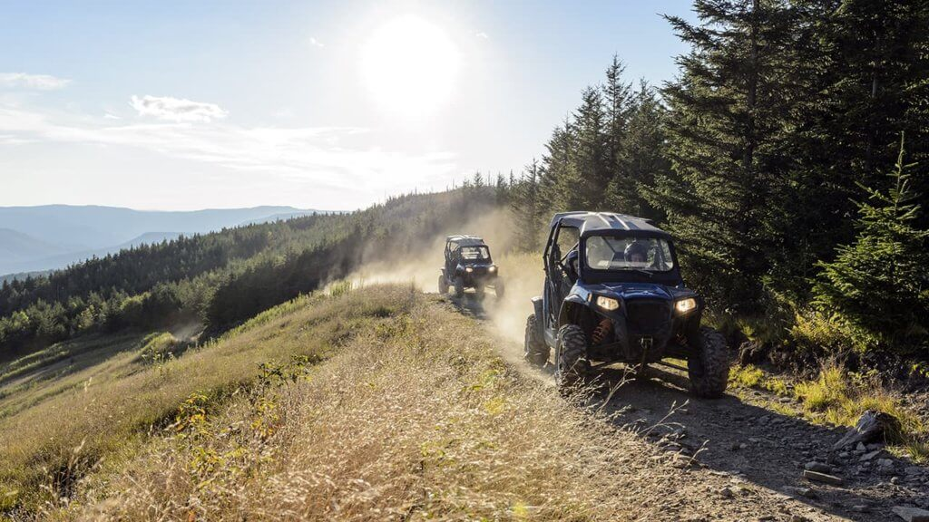 RZR off-road vehicle tours at SnowshoeA popular east coast summer mountain activity